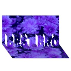 Phenomenal Blossoms Blue Best Bro 3d Greeting Card (8x4)