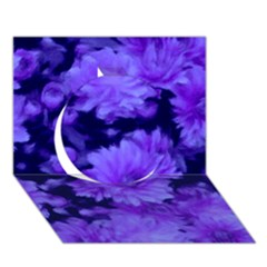 Phenomenal Blossoms Blue Circle 3D Greeting Card (7x5)