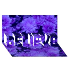 Phenomenal Blossoms Blue Believe 3d Greeting Card (8x4)