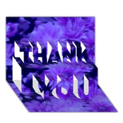 Phenomenal Blossoms Blue THANK YOU 3D Greeting Card (7x5)
