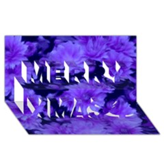 Phenomenal Blossoms Blue Merry Xmas 3D Greeting Card (8x4)