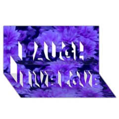Phenomenal Blossoms Blue Laugh Live Love 3D Greeting Card (8x4)