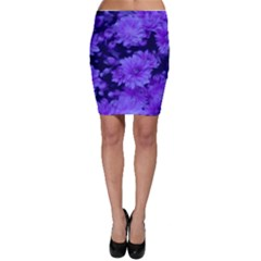 Phenomenal Blossoms Blue Bodycon Skirts