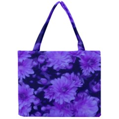 Phenomenal Blossoms Blue Tiny Tote Bags