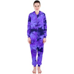Phenomenal Blossoms Blue Hooded Jumpsuit (Ladies)