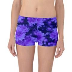 Phenomenal Blossoms Blue Reversible Boyleg Bikini Bottoms