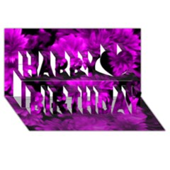 Phenomenal Blossoms Hot  Pink Happy Birthday 3d Greeting Card (8x4)