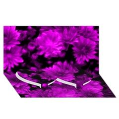 Phenomenal Blossoms Hot  Pink Twin Heart Bottom 3d Greeting Card (8x4)