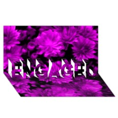 Phenomenal Blossoms Hot  Pink Engaged 3d Greeting Card (8x4)