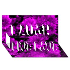 Phenomenal Blossoms Hot  Pink Laugh Live Love 3d Greeting Card (8x4)