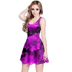 Phenomenal Blossoms Hot  Pink Reversible Sleeveless Dresses