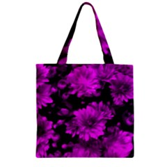 Phenomenal Blossoms Hot  Pink Zipper Grocery Tote Bags