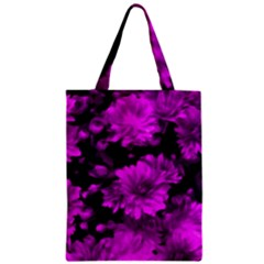 Phenomenal Blossoms Hot  Pink Zipper Classic Tote Bags