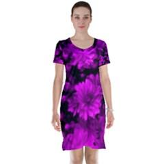 Phenomenal Blossoms Hot  Pink Short Sleeve Nightdresses