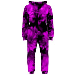 Phenomenal Blossoms Hot  Pink Hooded Jumpsuit (Ladies)