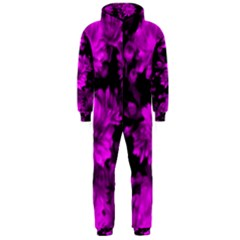 Phenomenal Blossoms Hot  Pink Hooded Jumpsuit (men)