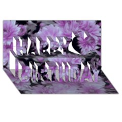 Phenomenal Blossoms Lilac Happy Birthday 3D Greeting Card (8x4)