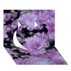 Phenomenal Blossoms Lilac Heart 3D Greeting Card (7x5)