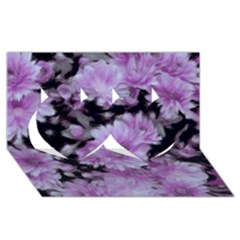 Phenomenal Blossoms Lilac Twin Hearts 3d Greeting Card (8x4)