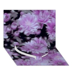 Phenomenal Blossoms Lilac Heart Bottom 3D Greeting Card (7x5)