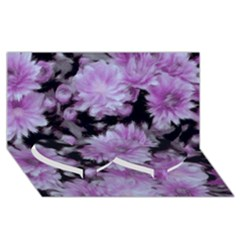 Phenomenal Blossoms Lilac Twin Heart Bottom 3D Greeting Card (8x4)