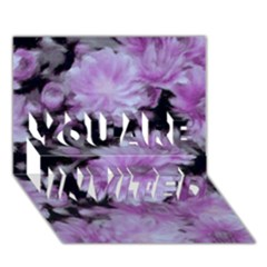 Phenomenal Blossoms Lilac You Are Invited 3d Greeting Card (7x5)