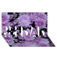 Phenomenal Blossoms Lilac #1 DAD 3D Greeting Card (8x4)
