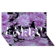 Phenomenal Blossoms Lilac Sorry 3d Greeting Card (8x4)