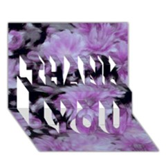 Phenomenal Blossoms Lilac THANK YOU 3D Greeting Card (7x5)