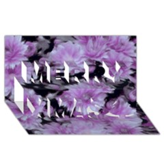 Phenomenal Blossoms Lilac Merry Xmas 3D Greeting Card (8x4)