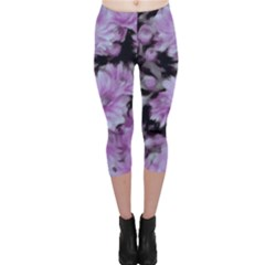 Phenomenal Blossoms Lilac Capri Leggings