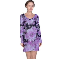 Phenomenal Blossoms Lilac Long Sleeve Nightdresses