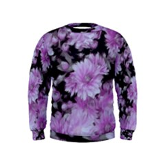 Phenomenal Blossoms Lilac Boys  Sweatshirts