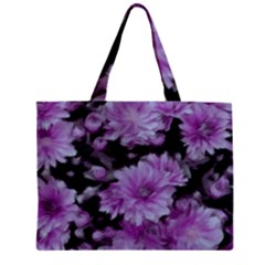 Phenomenal Blossoms Lilac Zipper Tiny Tote Bags