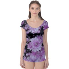 Phenomenal Blossoms Lilac Short Sleeve Leotard