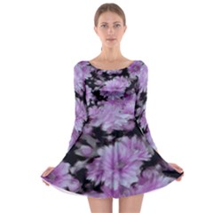Phenomenal Blossoms Lilac Long Sleeve Skater Dress
