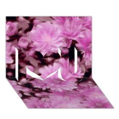 Phenomenal Blossoms Pink I Love You 3d Greeting Card (7x5)