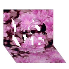 Phenomenal Blossoms Pink Love 3d Greeting Card (7x5)