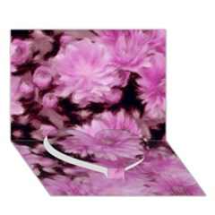 Phenomenal Blossoms Pink Heart Bottom 3D Greeting Card (7x5)