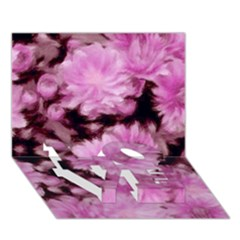 Phenomenal Blossoms Pink LOVE Bottom 3D Greeting Card (7x5)
