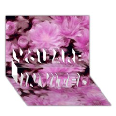 Phenomenal Blossoms Pink You Are Invited 3d Greeting Card (7x5)