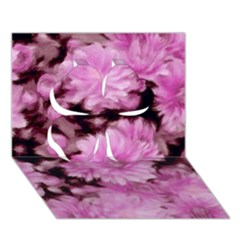 Phenomenal Blossoms Pink Clover 3d Greeting Card (7x5)