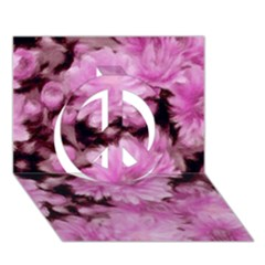 Phenomenal Blossoms Pink Peace Sign 3d Greeting Card (7x5)