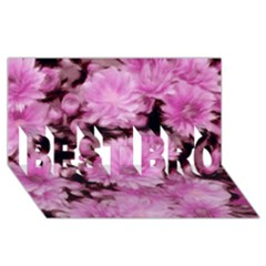 Phenomenal Blossoms Pink BEST BRO 3D Greeting Card (8x4)