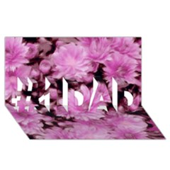 Phenomenal Blossoms Pink #1 Dad 3d Greeting Card (8x4)