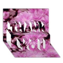 Phenomenal Blossoms Pink THANK YOU 3D Greeting Card (7x5)