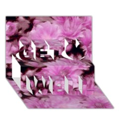 Phenomenal Blossoms Pink Get Well 3d Greeting Card (7x5)