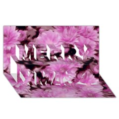 Phenomenal Blossoms Pink Merry Xmas 3D Greeting Card (8x4)