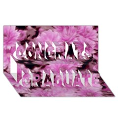 Phenomenal Blossoms Pink Congrats Graduate 3D Greeting Card (8x4)