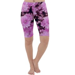 Phenomenal Blossoms Pink Cropped Leggings